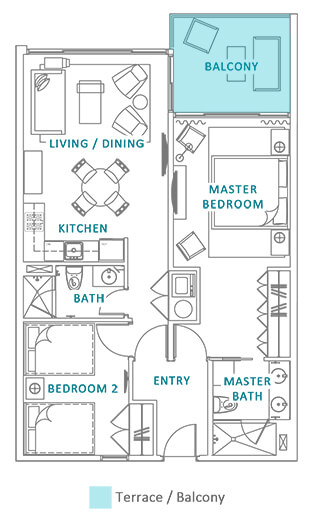 Azure Aruba beach floor plan