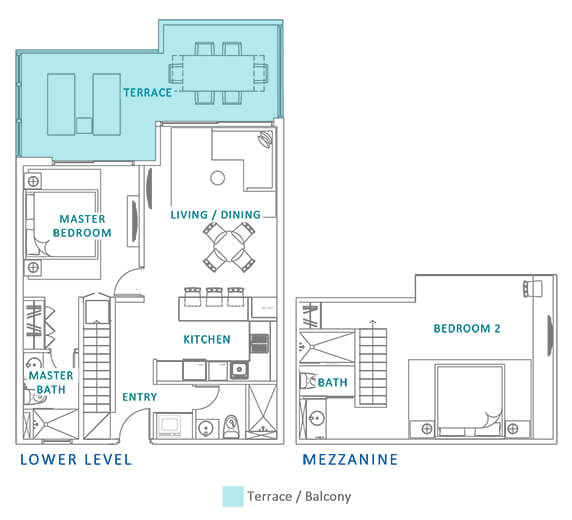 Azure-aruba-beach-residences-PH2-2BR-eng